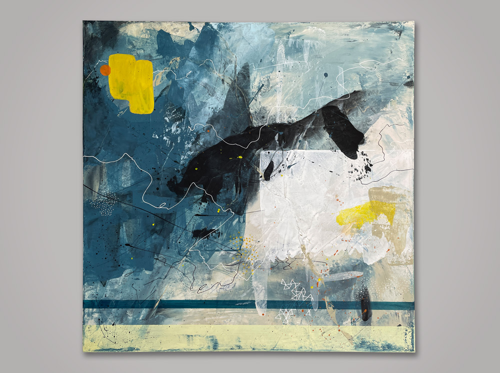 Massina abstract art mixed media